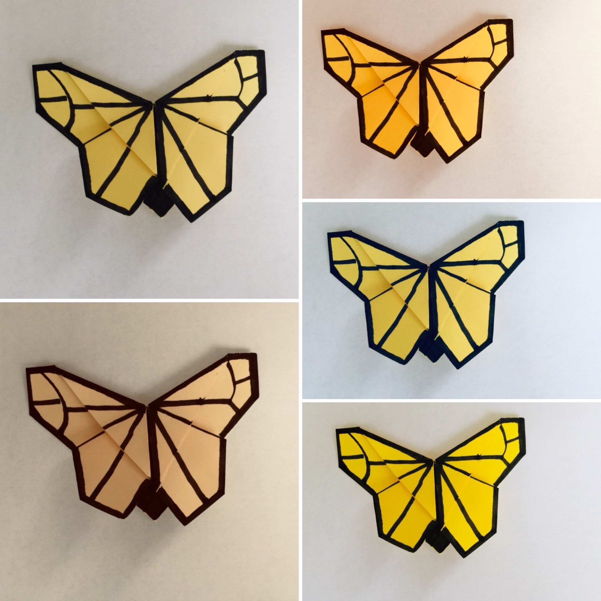 easy origami paper bookmark (origami butterfly) tutorial
