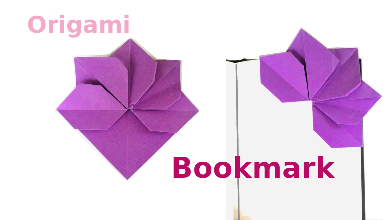 How to make a DIY Origami Flower Bookmark, easy tutorial for beginners