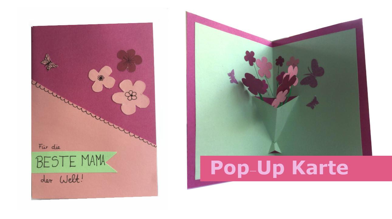 DIY Muttertagsgeschenk selbermachen: Blumen-Karte Basteln mit Papier